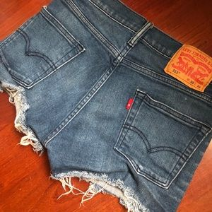 LEVI HIGH WAISTED SHORTS 513